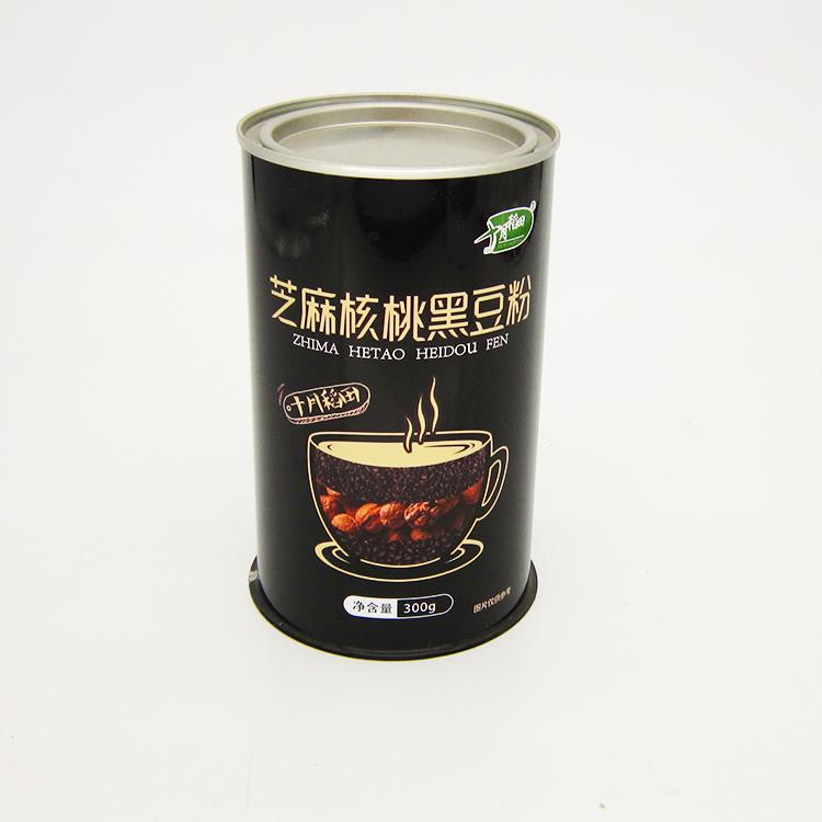 芝麻核桃黑豆粉铁罐