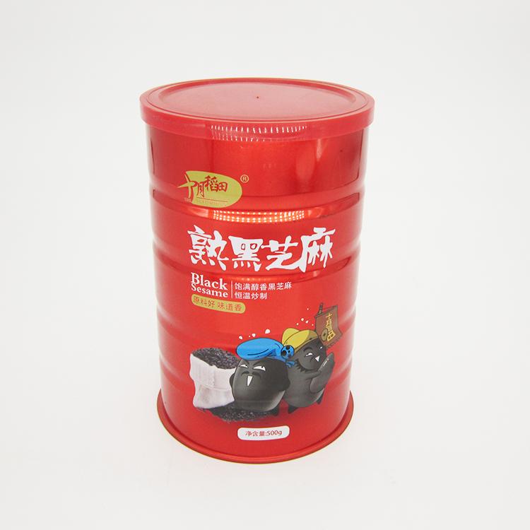 熟黑芝麻铁罐