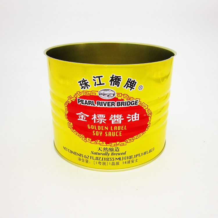 金标酱油铁罐