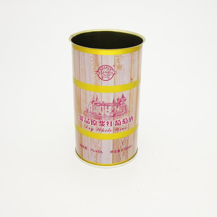 赛品原浆红葡萄酒铁罐